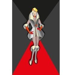 Fashion model woman vector image