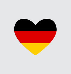 Heart in colors of the germany flag vector