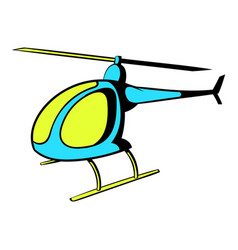 helicopter icon icon cartoon vector image vector image