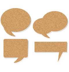 speech bubble templates in four designs vector image
