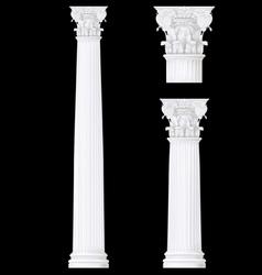 corithian column vector image vector image