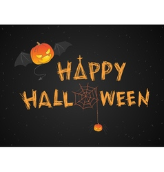 Happy Halloween theme vector image vector image