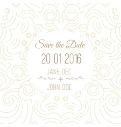 save the date card template - wedding vector image vector image