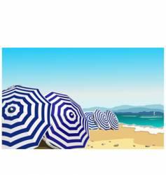 umbrella in the beach vector image