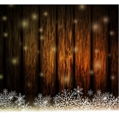 Vintage Christmas wood background vector image vector image