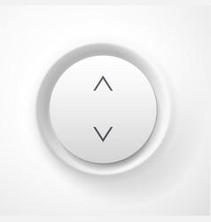 White plastic volume button vector image