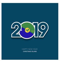 2019 christmas island typography happy new year vector
