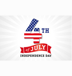 4 july independence day usa white banner vector