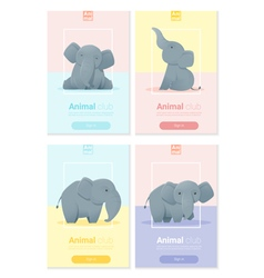 Animal banner with Elephant for web design 2 vector