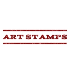 Art Stamps Watermark Stamp vector image