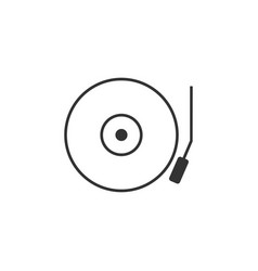 audio music line icon simple modern flat for vector image