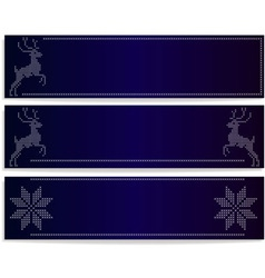 banners with deers vector image