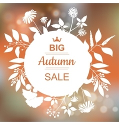 Big Autumn Sale Banner vector image