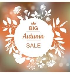 Big autumn sale banner vector