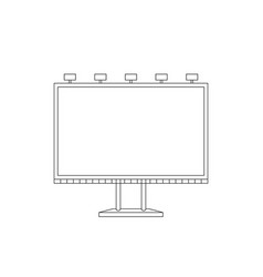 billboard sketch vector image