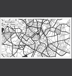 Birmingham great britain city map in black and vector