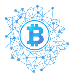 Bitcoin network concept vector