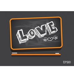 Blackboard Love Valentines Day Background vector image