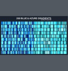 blue azure chrome gradient setpatterntemplate vector image