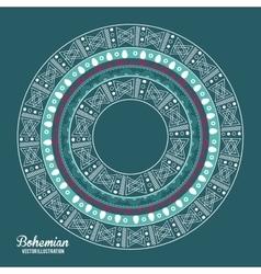 Bohemian design ornament icon Multicolored vector