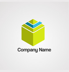 book pyramid logo icontemplate and element vector image