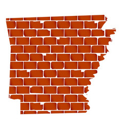 Brick wall with silhouette arkansas vector