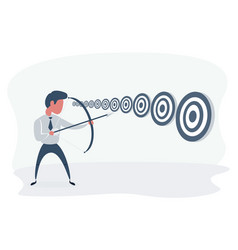 Businessman and multiple targets concept business vector
