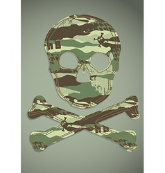 Camouflage skull applique vector