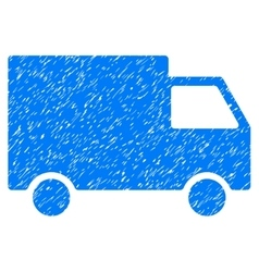 Cargo Van Grainy Texture Icon vector