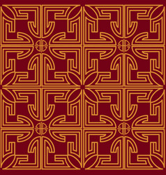 Chinese seamless pattern with gold decoration on vector