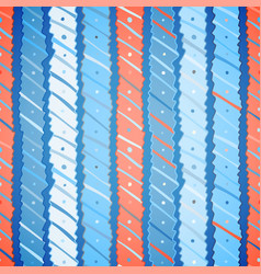 christmas seamless pattern of wavy stripes vector image