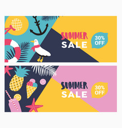 collection colorful promotional banner vector image