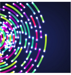 colorful neon circles background vector image