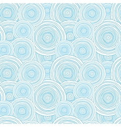 Doodle circle water texture seamless pattern vector