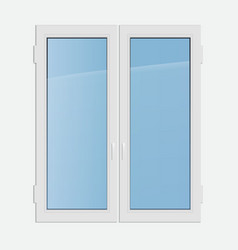 double casement plastic window vector image