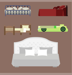 exclusive sleeping furniture design bedroom with vector image