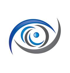 eye logo vector image