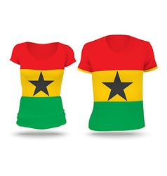 Flag shirt design of Ghana vector image