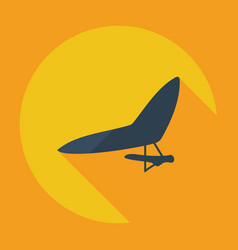 Flat modern design with shadow icon hang-glider vector