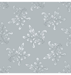 Floral swirls pattern vector
