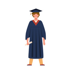 graduate student graduation from college or vector image