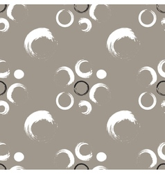 Grunge circles on a white coffee background vector