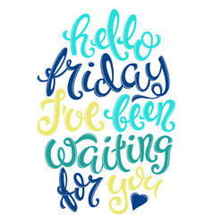 Hello friday poster vector