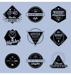 Hipster emblems vector