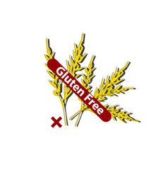 Icon gluten free prohibition sign spikes of vector
