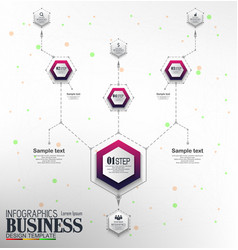 infographics business template concept with 4 opti vector image