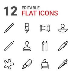 Ink icons vector