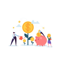 investment financial concept business people vector image