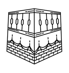 kabah icon doodle hand drawn or outline icon style vector image