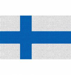 knitted Finland flag vector image